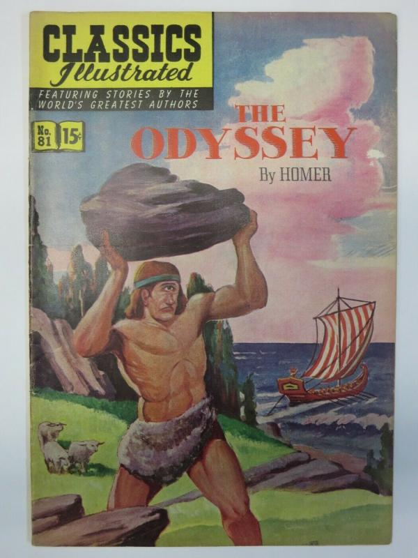 CLASSICS ILLUSTRATED 81 VG-F Odyssey March 1951 1st ed COMICS BOOK