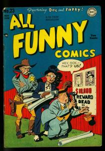 All Funny #23 1948- DC Golden Age humor- Final issue - VG