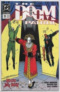 Doom Patrol (vol. 2, 1987) ##24 VF Morrison/Case, Red Jack