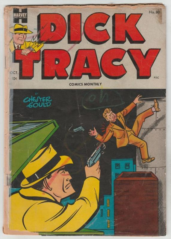 Dick Tracy Comic Monthly #80 (Oct-54) FR Low-Grade Dick Tracy