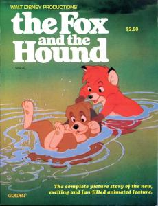The FOX and the HOUND, VF/NM, Walt Disney, 1981, 1st, Golden Press, 8.5x11