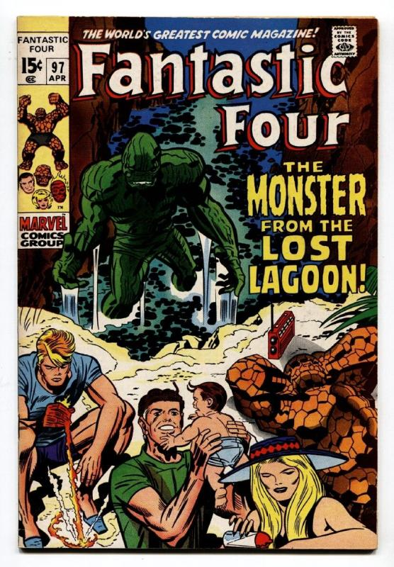 Fantastic Four #97 1970-JACK KIRBY--MARVEL VF-