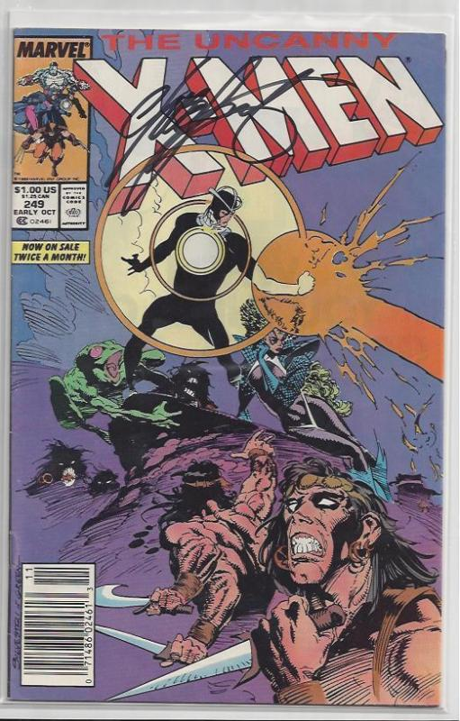 X-Men #249 Autographed by Chris Claremont Bold Black Sharpie on Cover