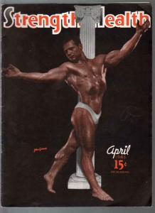 Strength and Health 4/1946--male & female body builders photos-FN