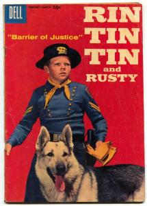 Rin Tin Tin and Rusty #23 1958-Dell-photo cover- German Shepherd VG