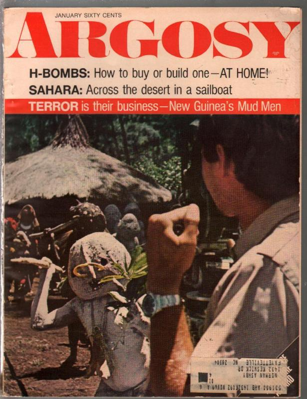 Argosy 1/1970-Buils An H-Bomb At Home-New Guinea Mud Men-pulp fiction-FN