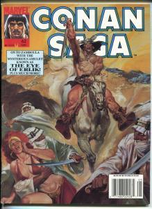 CONAN SAGA BARGAIN LOT OF 4 1990'S -MARVEL-STAN LEE-ISSUES #62-#63-#64-#71