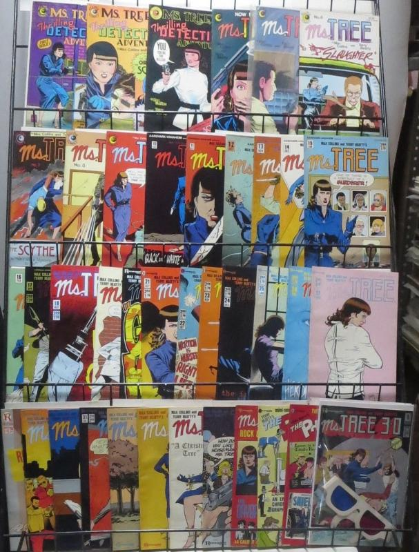 MS. TREE #1-35 PLUS BONUS BOOKS!Hard-boiled fiction by Max Collins&Paul Beatty
