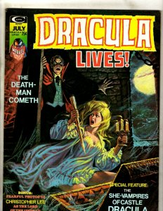 Lot Of 5 Dracula Lives Marvel Comic Book Magazines #7 8 9 10 11 Vampire Fear RS3