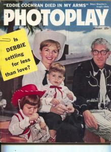 Photoplay-Debbie Reynolds-Eddie Cochran-Bobby Darin-Lauren Bacall-Aug-1960