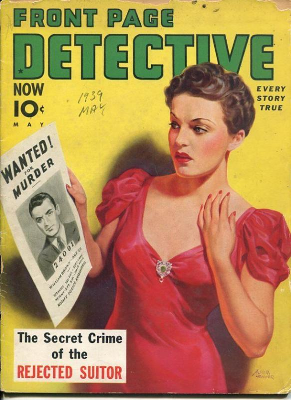 PAGE DETECTIVE-MAY 1939-SPICY-MURDER-KIDNAP-RAPE-ALBERT FISHER COVER P