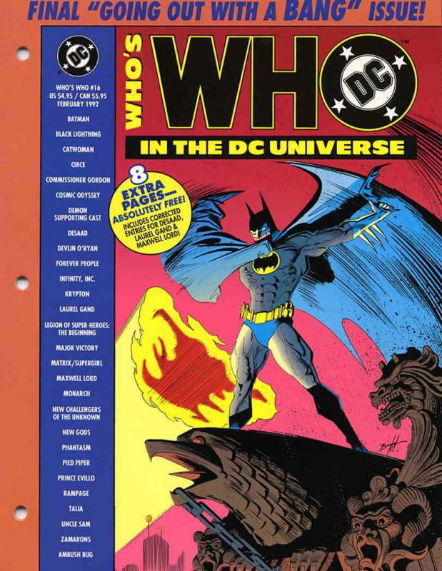 Who's Who in the DC Universe #16 VF/NM; DC | save on shipping - details inside