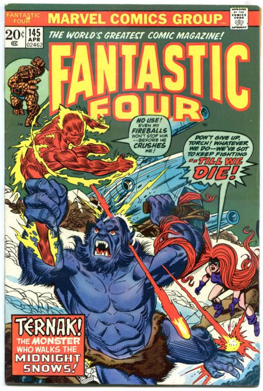 FANTASTIC FOUR #145, VF, Medusa, Ternak, Ross Andru, 1961, more Marvel in store