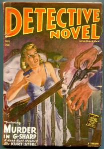 Detective Novel Magazine Pulp Fall 1948- Murder in G-Sharp GGA cover