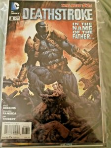 DC Comics Deathstroke #8 The New 52 In The Name Of The Father 2012 NM