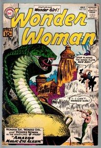 WONDER WOMAN #123-1961-DC SILVER AGE-snake cover-vg plus VG+