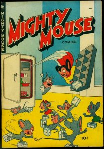 Mighty Mouse #16 1950- St John Golden Age- Funny Refrigerator cover VG