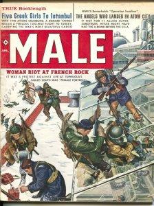 Male 4/1960-Atlas-Mort Kunstler-James Bama-Bruce Minney-pulp thrills-cheesecake-