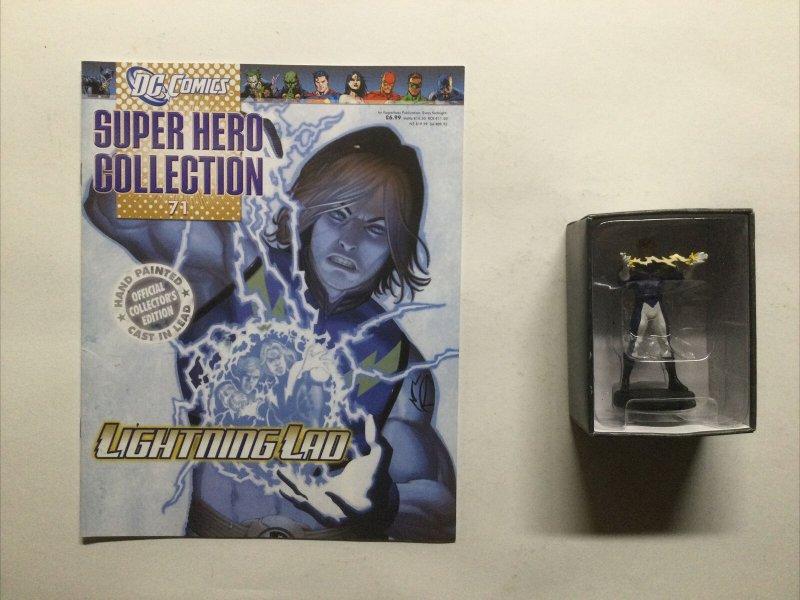 Lightning Lad 71 Super Hero Collection Lead Figure and Magazine Dc Eaglemoss