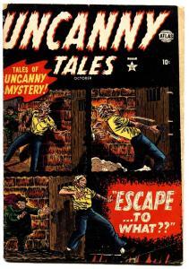 UNCANNY TALES #2-1952-JOE MANEELY-COVER-Atlas horror Pre-Code