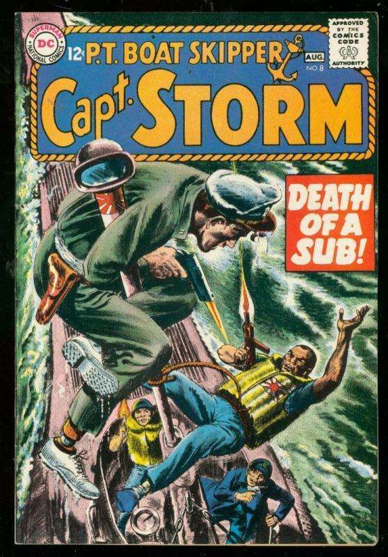 CAPT STORM PT BOAT SKIPPER #8 1965-DC COMICS-HIGH GRADE VF