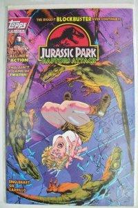 JURASSIC PARK RAPTORS ATTACK #1 , VF/NM, Topps, 1994, Dinosaurs, horror