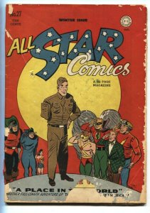 All Star Comics #27-1945 amputee cover Justice Society- Green Lantern