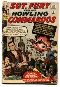 Sgt. Fury And His Howling Commandos #1 FR/G 1963-Marvel First issue comic