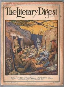 Literary Digest 10/20/1917-WWI cover-photos-ads-info-pulp thrills-G