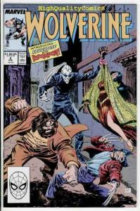 WOLVERINE #4, NM+, Barry Smith, 1988, X-men, Chris Claremont, more in store
