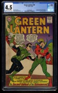 Green Lantern #40 CGC VG+ 4.5 Cream To Off White DC Comics