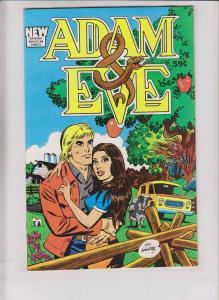 Adam & Eve #1 VF barbour christian comics - al hartley - 1988 edition (59 cents)