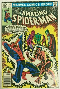 AMAZING SPIDER-MAN#215 FN 1981 MARVEL BRONZE AGE COMICS