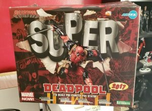 SUPER DEADPOOL KOTOBUKIYA ARTFX PVC STATUE Marvel Now Comics 1/6th Scale NIB!