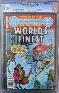 World's Finest Comics #257 CGC 9.6 (1979) Black Adam 3rd App!