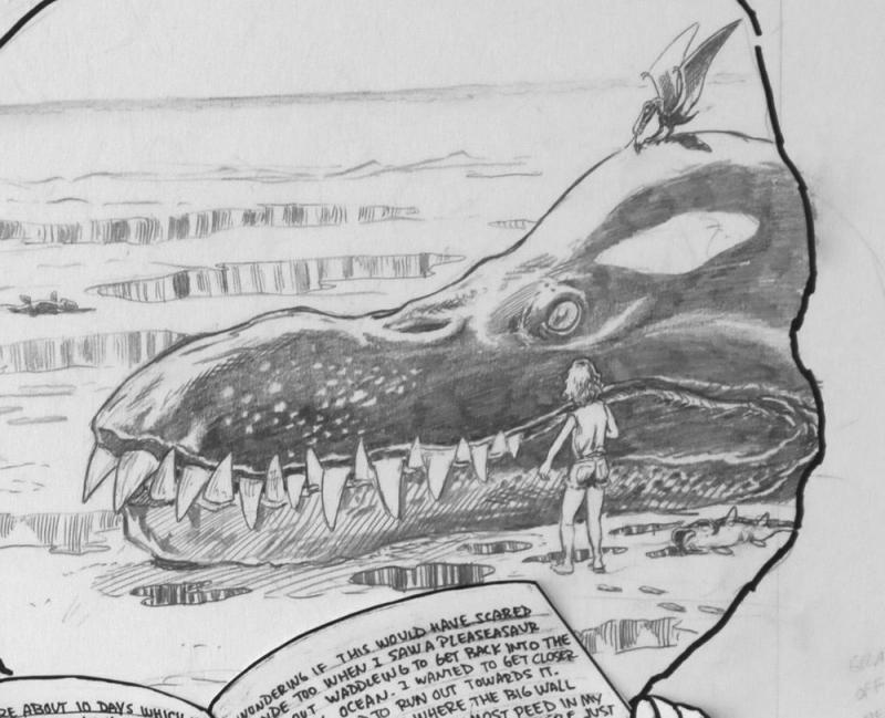 BUDD ROOT original published art, CAVEWOMAN #3 pg #21, 1st series ,14x17, 1994