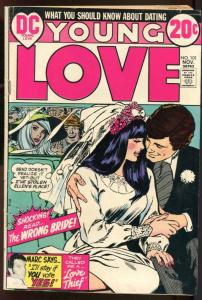 YOUNG LOVE #101-GREAT ISSUE-DC ROMANCE-WEDDING COVER VG+