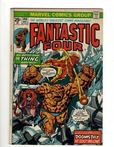 Lot of 8 Fantastic Four Marvel Comic Books #146 147 149 150 151 152 153 154 GK18