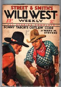 WILD WEST WEEKLY-4/30/1932-PULP-SONNY TABOR VG-