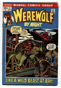 Werewolf By Night #2 comic book Marvel-Mike Ploog VG