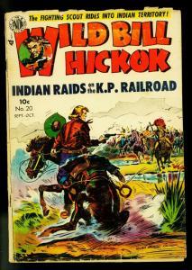 Wild Bill Hickok #20 1954- Good girl art- Avon Western- G