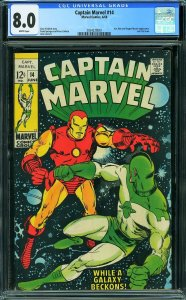 Captain Marvel #14 (Marvel, 1969) CGC 8.0