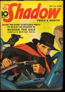 SHADOW 1938 JUL 1-STREET AND SMITH PULP WALTER GIBSON VF