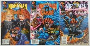 Night Man/Gambit #1-3 VF complete series - david quinn - malibu ultraverse 2