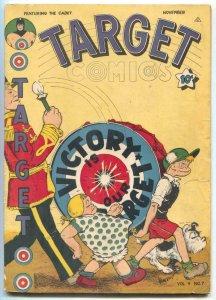 Target Vol. 4 #7 1943-Victory cover- Chameleon VG