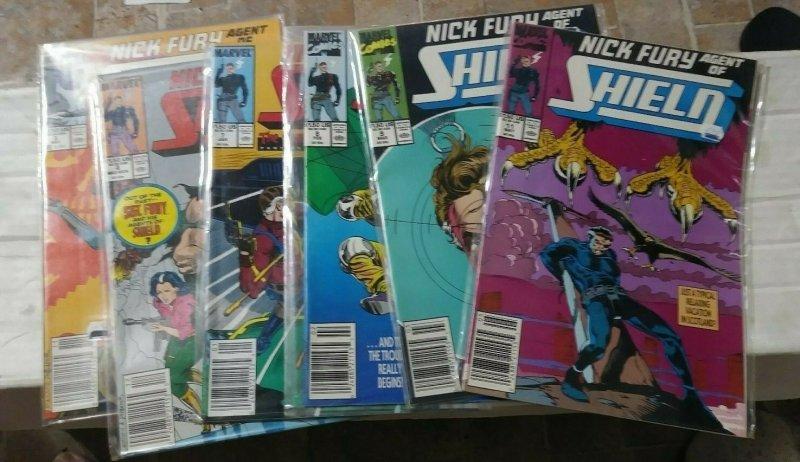 NICK FURY AGENT OF SHIELD # 3 4 7 8 9 11 1989  marvel