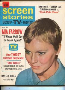 Screen Stories-Mia Farrow-Hayley Mills-Tony Curtis-Robert Wagner-Sept-1967