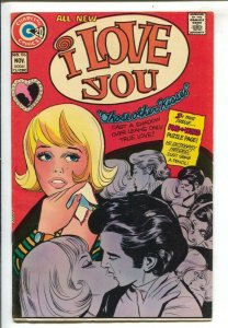 I Love You #106 1973-Charlton-20¢ cover price-romance-puzzle page-VG/FN
