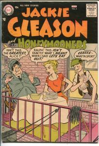 JACKIE GLEASON & THE HONEYMOONERS #4 1956-DC-KRAMDEN-NORTON-fn