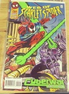 WEB OF SCARLET SPIDER # 2 1995  MARVEL BEN REILLY CYBERWAR PT 1  SPIDER MAN